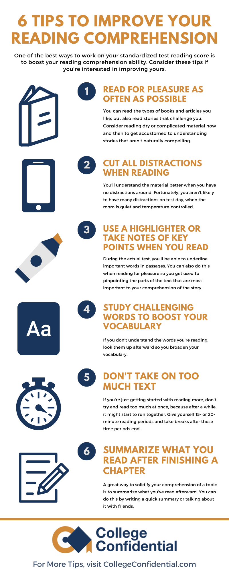 6 Tips Reading Comprehension