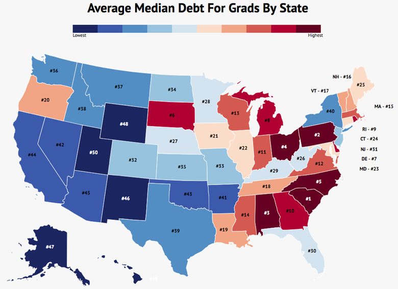 The States of Student Loan Debt
