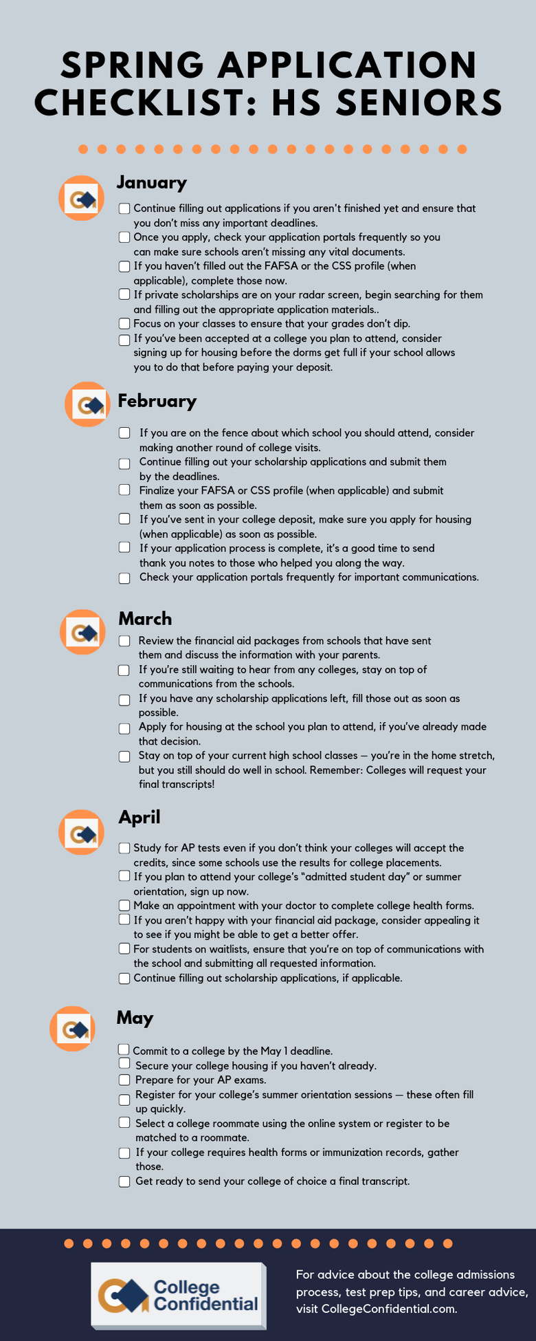 Use These Infographics As Your College Admissions Checklists - 1